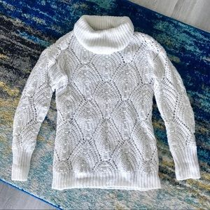 A New Day white chunky knit white sweater, XS